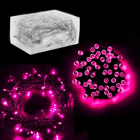 30 Mini Bulb LED Battery Operated Fairy String Lights in Pink (158