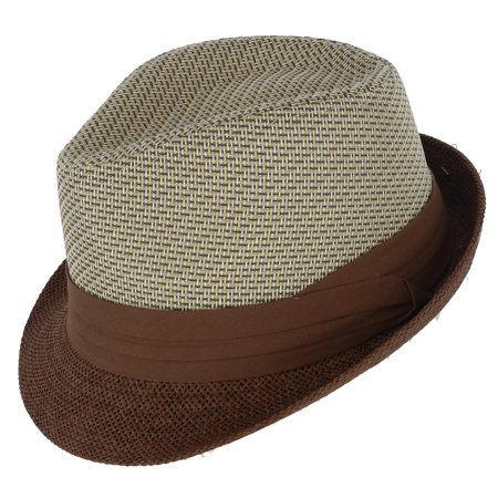 Kenny K Men's Two Tone Fedora with Pleated Band - image 2 of 2