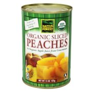 (6 Pack) Native Forest Organic Sliced Peaches, 15 Ounce Cans