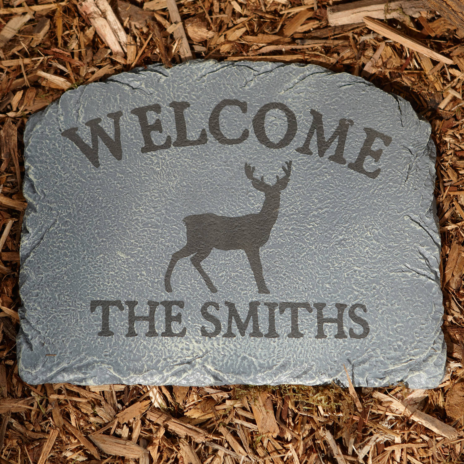 Personalized Sportsman's Garden Stepping Stone, Available in Different Animals