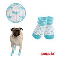 Angel Heart Dog Socks by Puppia - Blue - Large