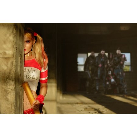 Peel-n-Stick Poster of Girl Cosplay Creative Writing Harley Quinn Poster 24x16 Adhesive Sticker Poster Print
