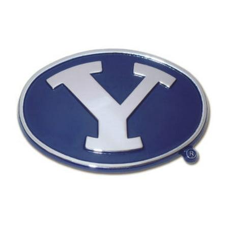 Brigham Young Navy Chrome Emblem