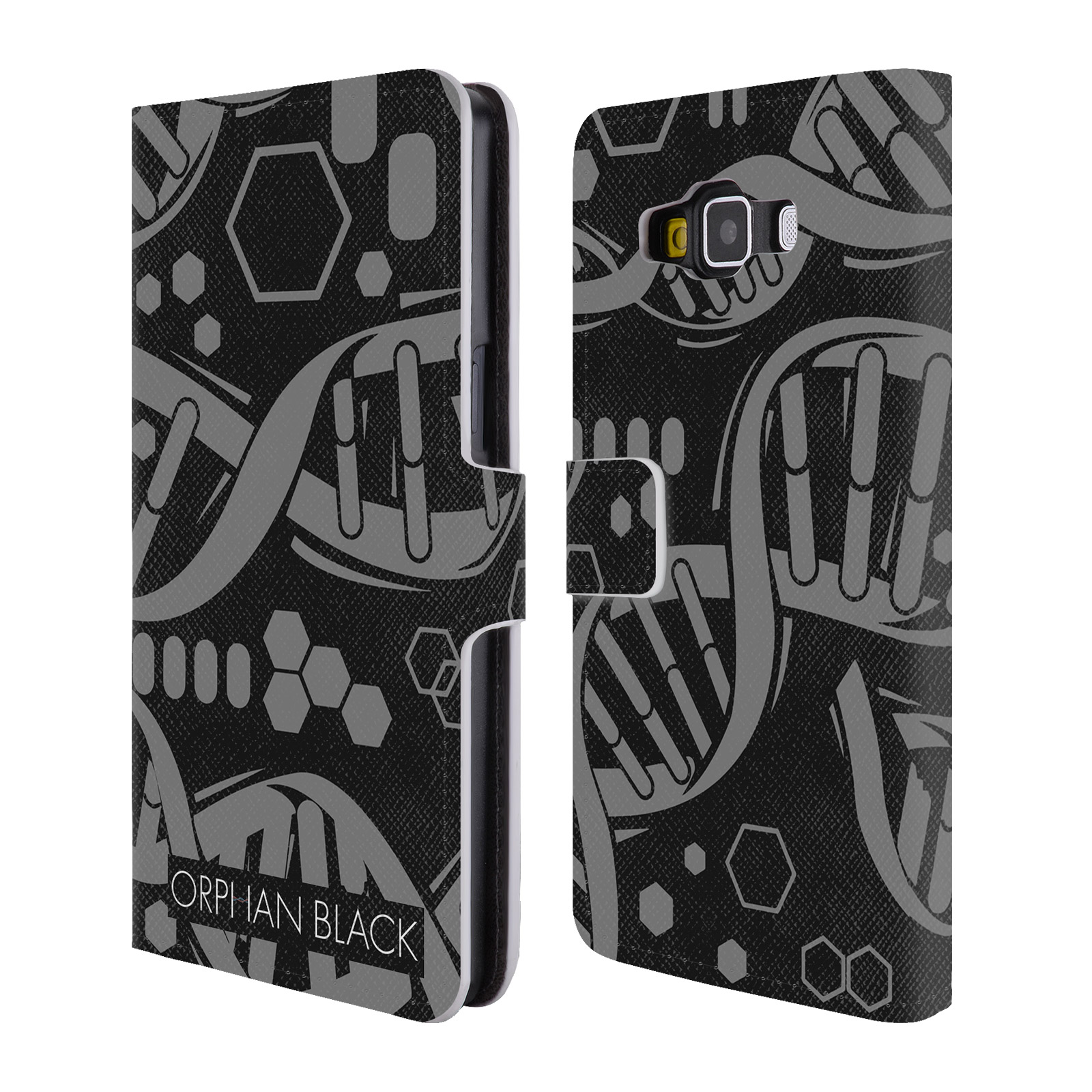OFFICIAL ORPHAN BLACK LOGO & HELIX LEATHER BOOK WALLET CASE COVER FOR SAMSUNG PHONES 2