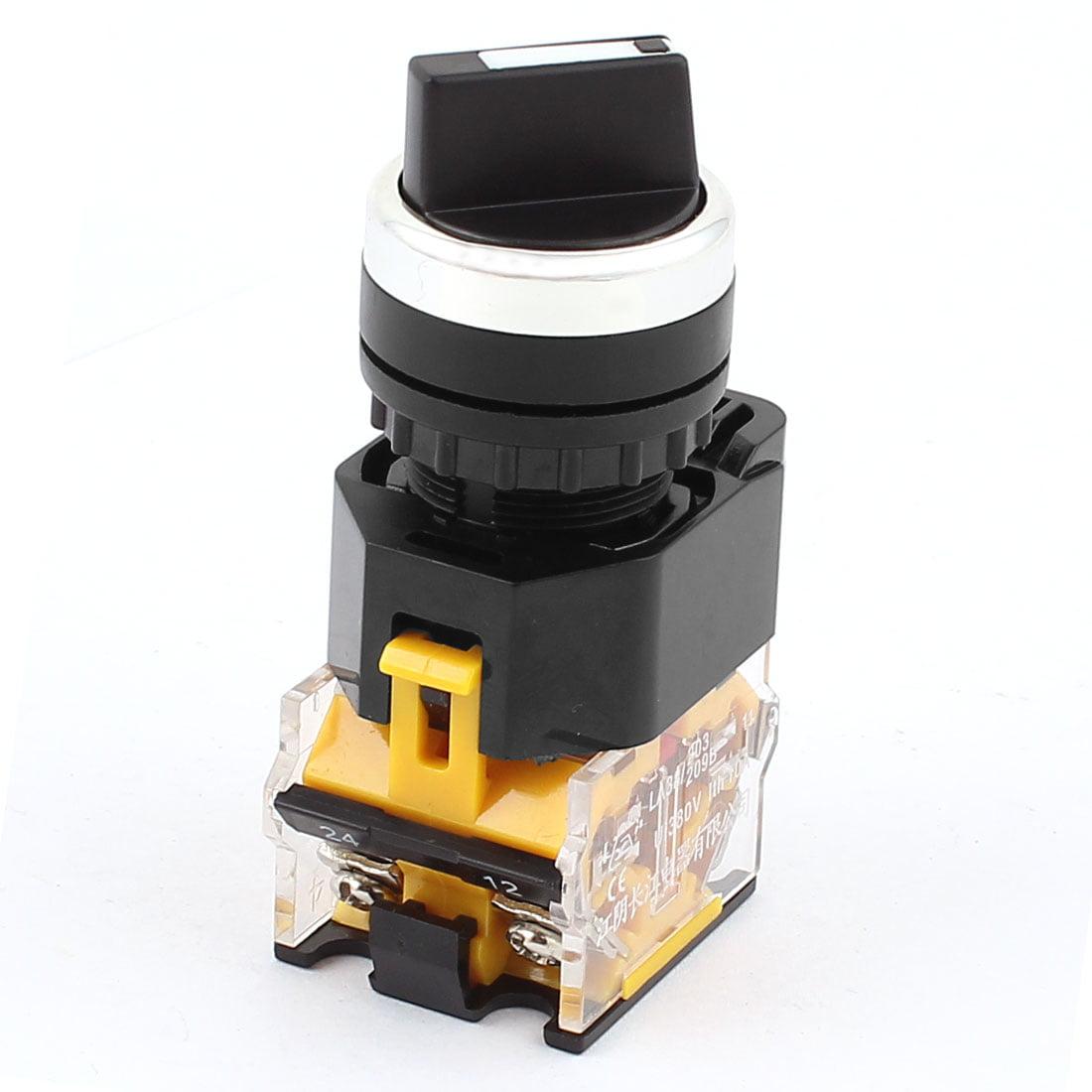 AC 380V 10A 1 NON 1 NC 3 Positions DPST sélecteur rotatif sélectionnez verrou contacteur - image 2 de 2