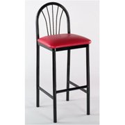 Alston Quality 1902 BLK-Ivory 30 inch Parlor Bar Stool Black Frame by Alston Quality