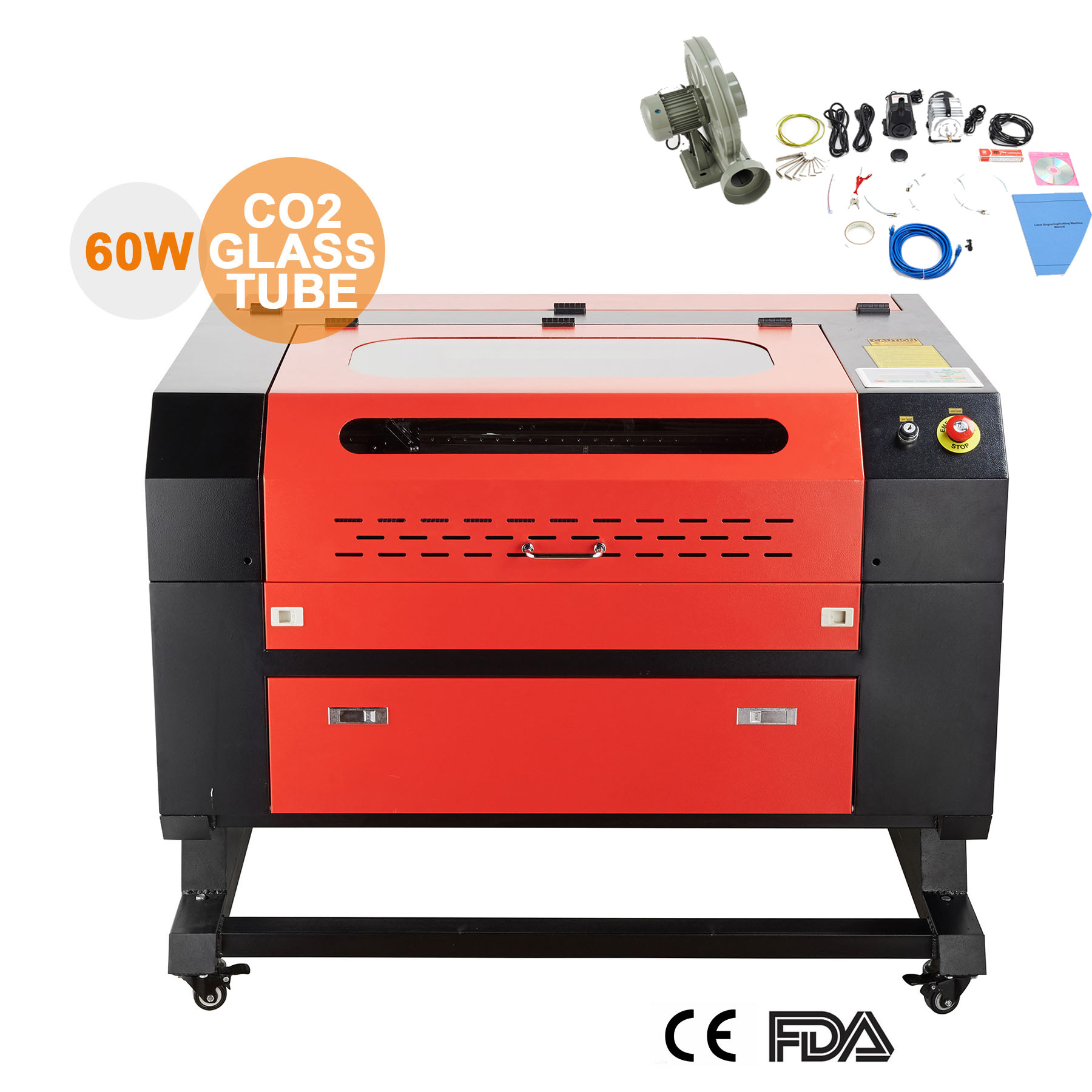 Engraver Cutter 60W 110V CO2 w  USB Interface Laser Engraving Machine Upgraded by USB