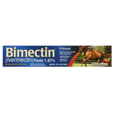 IVESCO Bimectin Equine Deworm Paste for Horses, Apple Flavor, (Bimectin Paste)