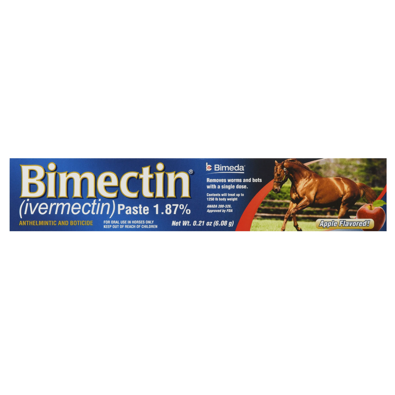 IVESCO Bimectin Equine Deworm Paste for Horses, Apple Flavor, 0.21-Ounce