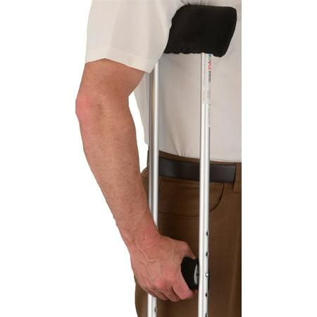 Crutch Cover Set in Black Microfiber - 1 Set / Set - 7013-R