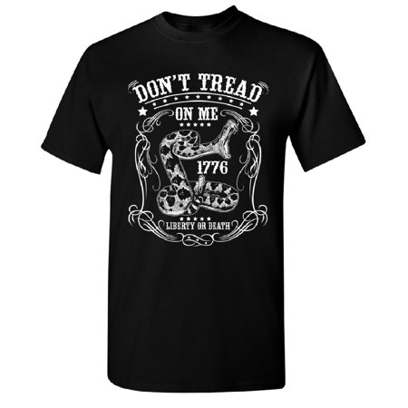 Don't Tread On Me Liberty or Death Men's T-shirt Black