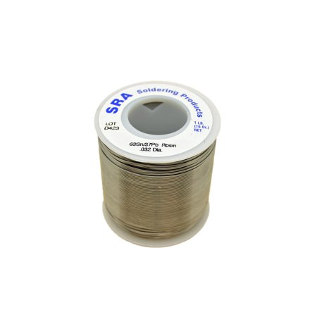 SRA Rosin Flux Core Solder, 63/37 .032-Inch, 1-Pound Spool](rosin core solder for electronics)