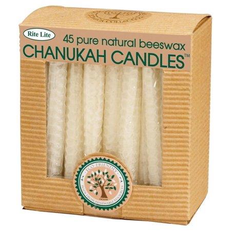 45ct Eco-Friendly Natural Beeswax Chanukah Hanukkah Menorah Candles 4