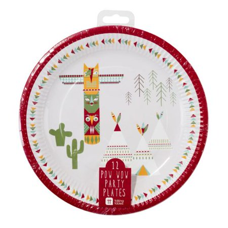 Talking Tables Pack of 12 Round Paper Plates ()