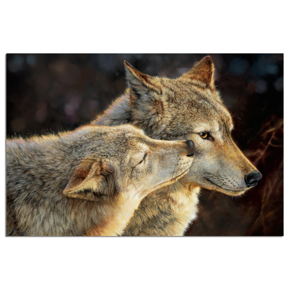 Tree-Free Greetings Loving Wolves Econotes Blank Note Cards-FS66518