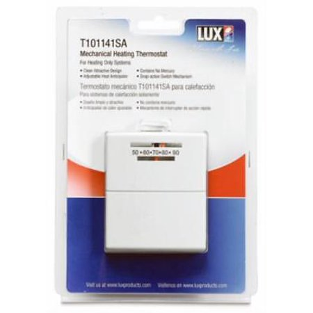 Easy Temp Economy Heat Only Thermostat Mechanical Wallplate Included Heat Wall Thermostat