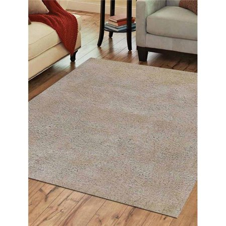 4 x 6 ft. Shag Solid Hand Tufted Polyester Area Rug, White - image 1 of 1