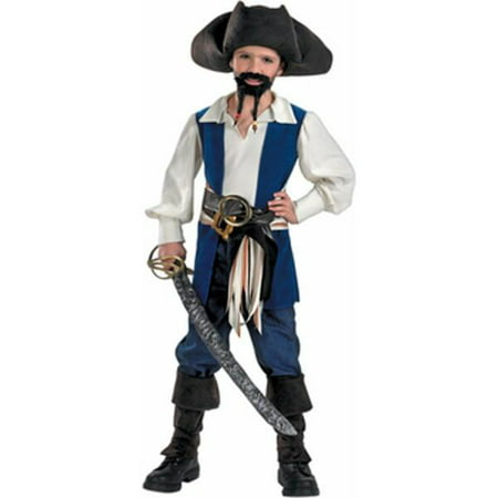 Child's Jack Sparrow Pirate Costume~Medium 7-8 / Blue (Pirates Of The Caribbean Jack Sparrow Costume)