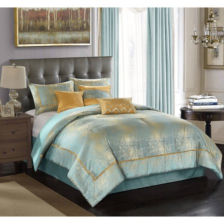 Better homes and garden duo metallic 7 piece bedding comforter set best comforter sets 7 better homes and gardens