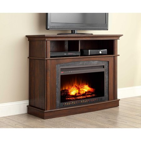 Whalen Media Fireplace Console for TV's up to 45″, Rustic Brown