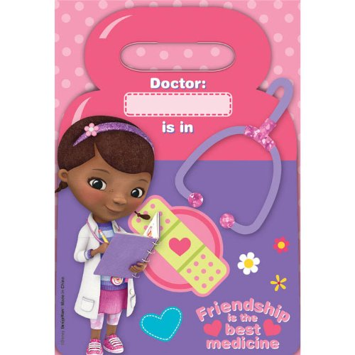 Doc McStuffins Party Treat Bags, 8ct