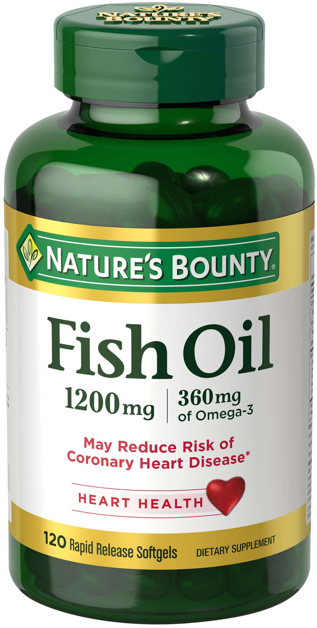 Nature S Bounty Fish Oil 1200 Mg Omega 3 120 Rapid Release