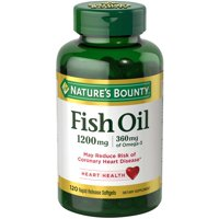 Nature's Bounty Fish Oil, 1200 mg, 120 ct, Omega-3 Softgels