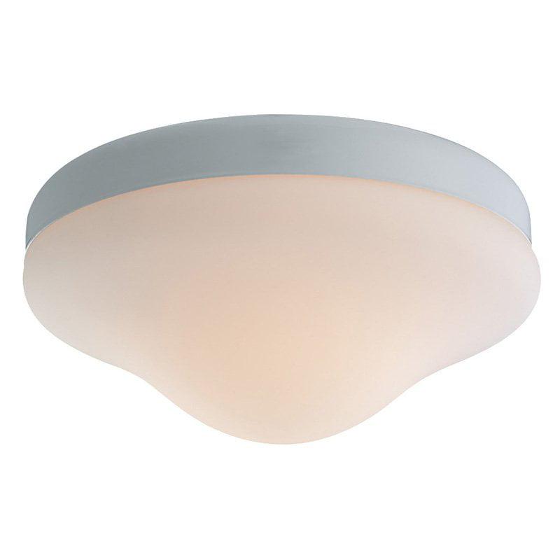 Monte Carlo MC07PWH-B Opal Teardrop Outdoor Light Kit - White