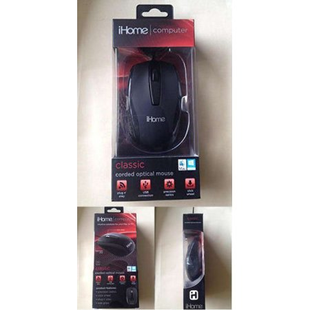 iHome Computer Classic Corded Optical Mouse