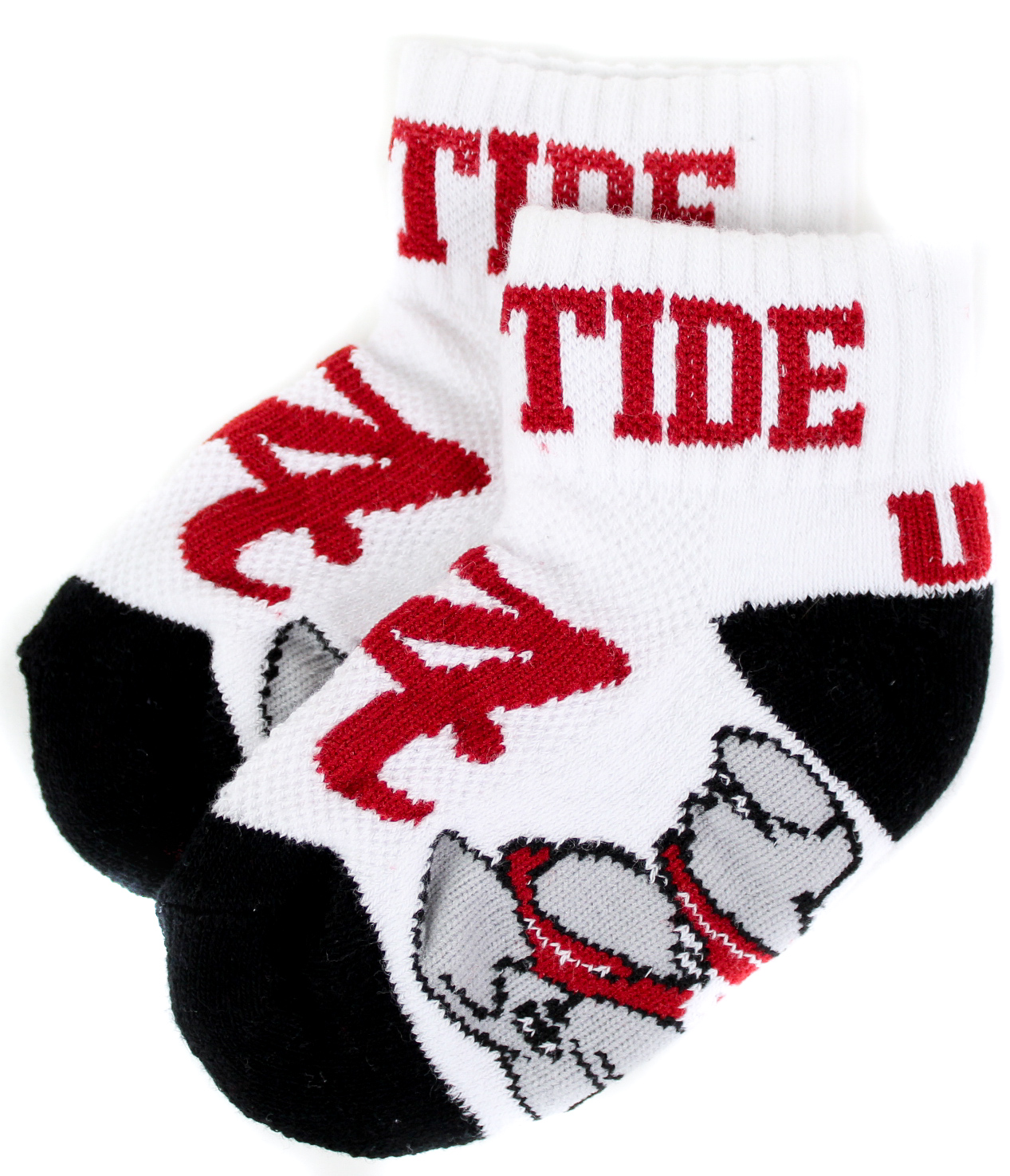 Donegal Bay NCAA Wisconsin Badgers Unisex Wisconsin Badgers White Quarter Red Heel-Toe SockWisconsin Badgers White Quarter Red Heel-Toe Sock White One Size