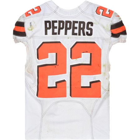 san francisco 97161 d6fef Jabrill Peppers Cleveland Browns Game-Used White #22 Jersey vs. Baltimore  Ravens on December 30, 2018 - Fanatics Authentic Certified