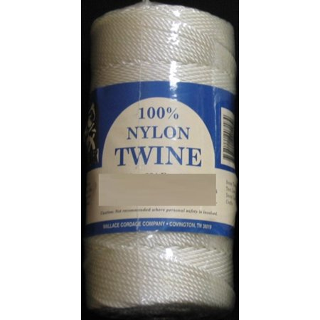 ST4-21 Wallace Cordage White Twisted Nylon Twine 1/4 lb Fishing Line - Size 21