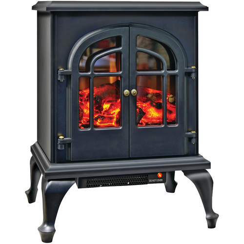 Comfort Zone CZFP5 2-Door Electric Stove-Style Fireplace