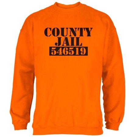 Orange County Halloween Bars (Halloween County Jail Inmate Costume Mens Sweatshirt Safety Orange)