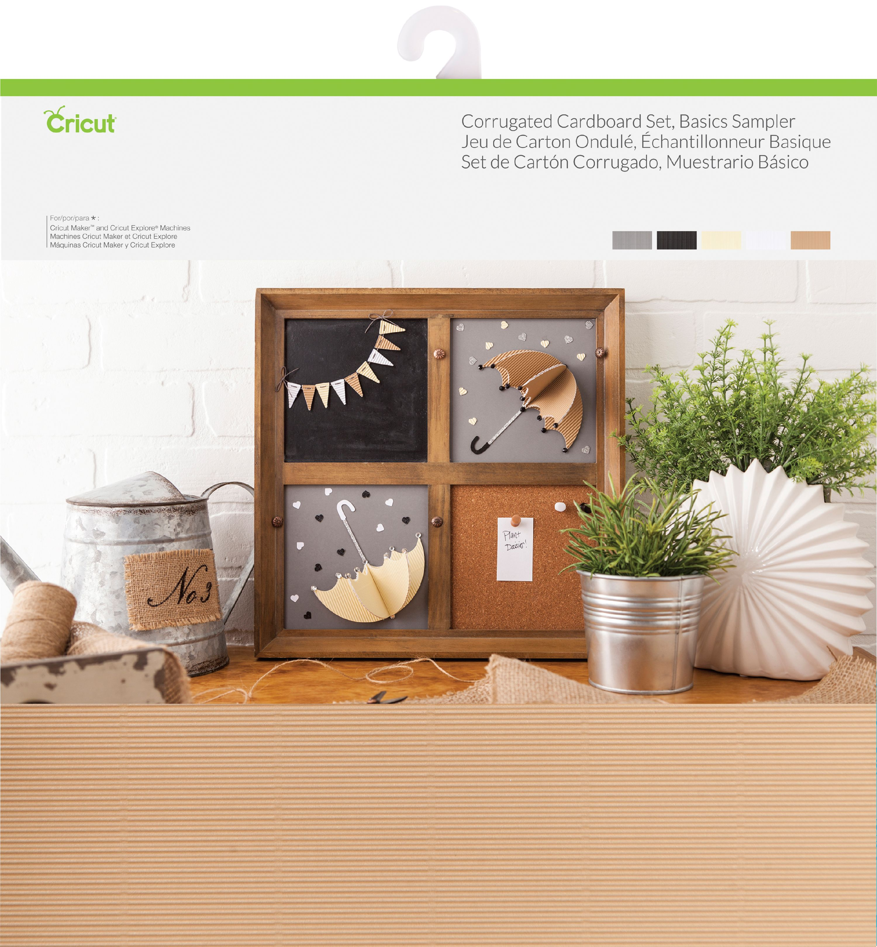"Cricut Corrugated Cardboard 12""X12"" Set 20 Sheets-Basics"