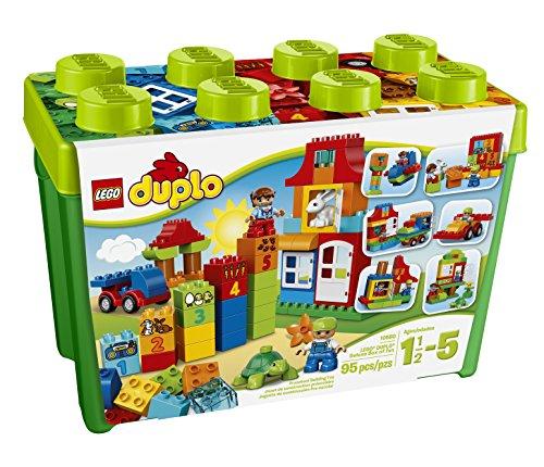 Lego DUPLO Creative Play My First Box of Fun 10580, Preschool, Pre-Kindergarten Large Building Block Toys for... by LEGO