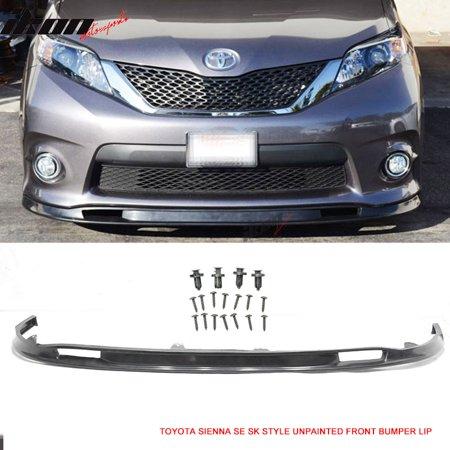 Fits 11-16 Toyota Sienna SE 5Door SK Style Front Bumper Lip -