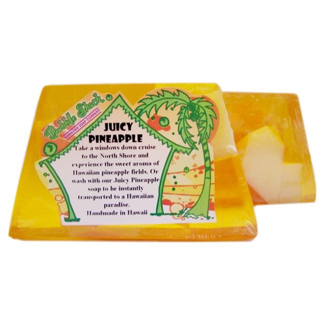 Bubble Shack Hawaii 492772005817 Juicy Pineapple Chunk Soaps - Pack of 2