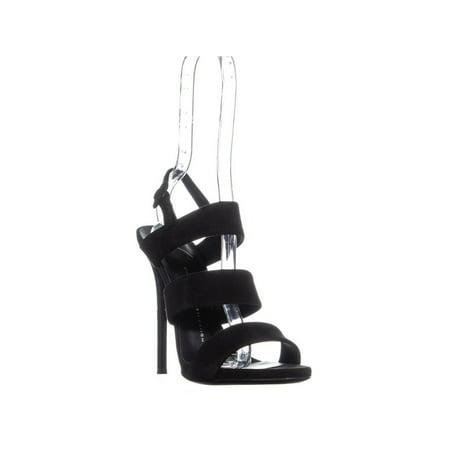 a948c1e9a50c9 Giuseppe Zanotti - Womens Giuseppe Zanotti Alien Thick Strap Dress Sandals,  Black/Nero - Walmart.com