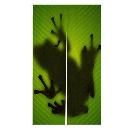 GCKG Frog Shadow Silhouette on the Banana Tree Leaf Doorway Curtain Japanese Noren Curtains Door Curtain Entrance Curtain Size 85x150 CM