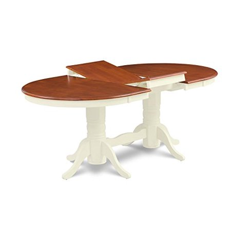 Somerville Oval Shaped Dining Table With 18 Erfly Leaf Finish Espresso