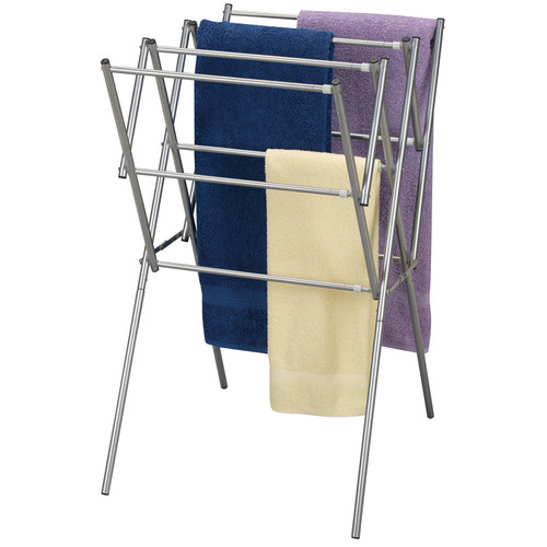 Household Essentials Expandable Laundry Dryer, Satin Silver