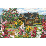 """Flowering Garden Counted Cross Stitch Kit, 15"""" x 10.25"""", 16-Count"""