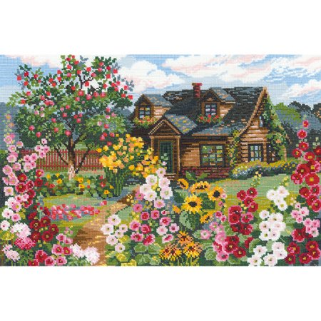 Flowering Garden Counted Cross Stitch Kit, 15