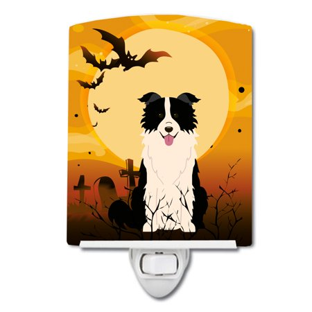 Halloween Border Clipart Black And White (Halloween Border Collie Black White Ceramic Night)