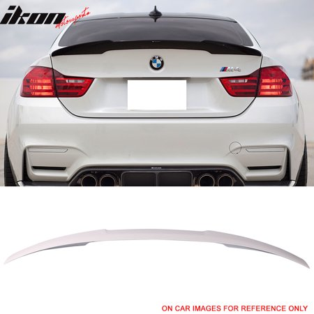 Fits 14-16 BMW 4 Series F32 M4 Style Unpainted Rear Trunk Spoiler - ABS Bmw 3 Series Rear Spoiler