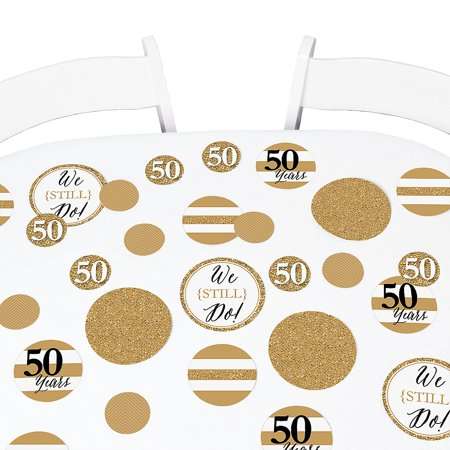 We Still Do - 50th Wedding Anniversary Party Table Confetti Set - 27 Count (50th Wedding Anniversary Table Centerpieces)