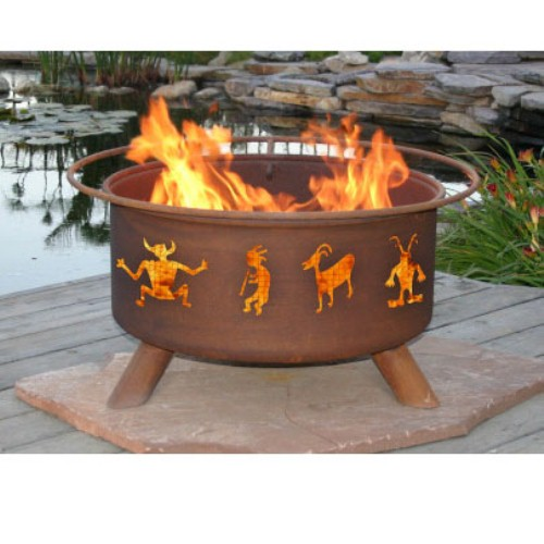 Outdoor Firepit by Patina Products Kokopelli by Patina Products