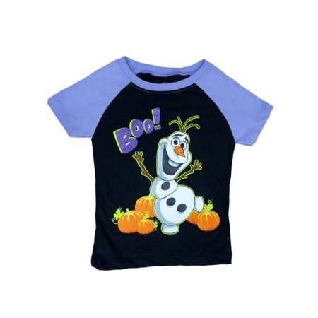Disney Frozen Toddler Girls Black Olaf Boo! Halloween Shirt T-Shirt Tee](Frozen Tv Spot Halloween)