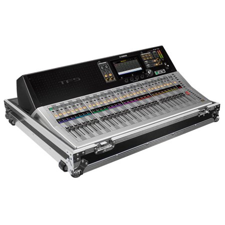 32 Channel Mixing Console - YAMAHA TF5 32 CHANNEL DIGITAL MIXING CONSOLE CASE WITH WHEELS